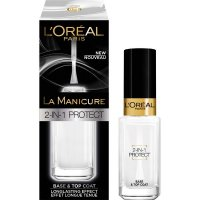L'Oreal La Manicure 2-in-1 Protect Base & Top Coat 5ml