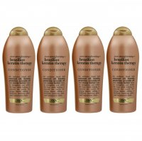 OGX Ever Straightening & Brazilian Keratin Therapy Conditioner (4 x 750ml)