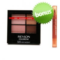 Revlon Colorstay 16 Hour Eyeshadow Quad - 505 Decadent + Bonus!