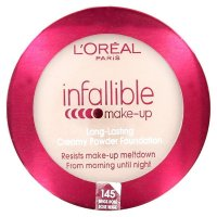 L'Oreal Infallible Long Lasting Creamy Powder Foundation - 145 Rose Beige
