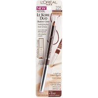 L'Oreal Le Kohl Duo Shadow + Liner Pencil 255 Black Brown/Hazelnut