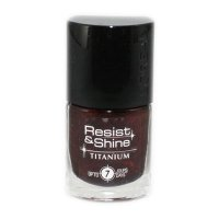 L'Oreal Resist & Shine Titanium Nail Polish - 734 Black Ruby