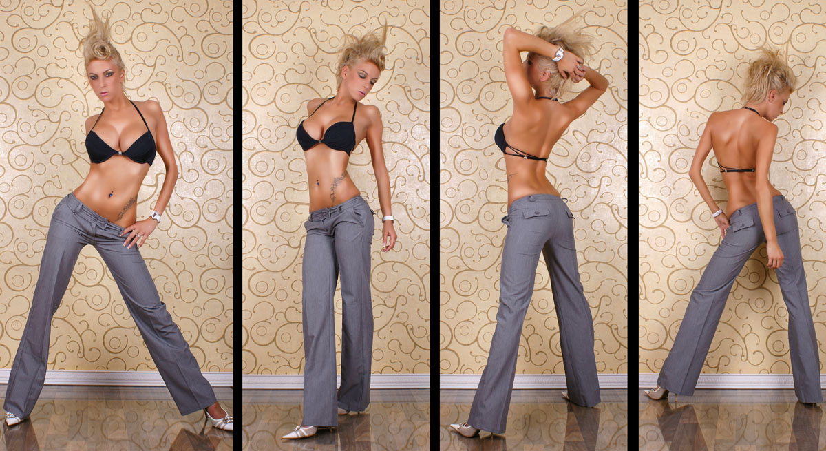 Classic Cut Grey Pants - Size XS - Click Image to Close